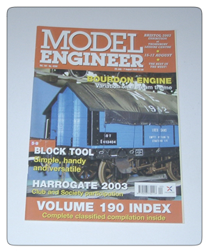 Model Engineer Vol 191 #4200 25th July 2003