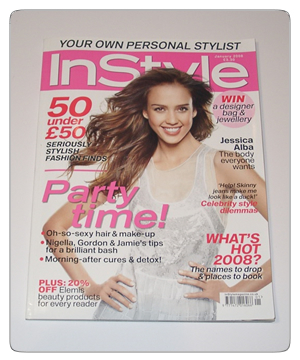 InStyle magazine issue 83 January 2008