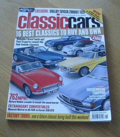 Classic Cars Magazine November 2004