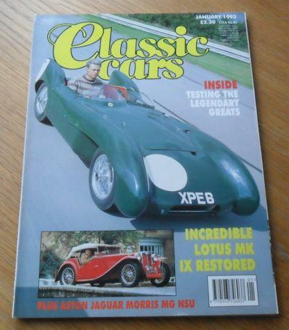 Classic Cars Magazine January 1993