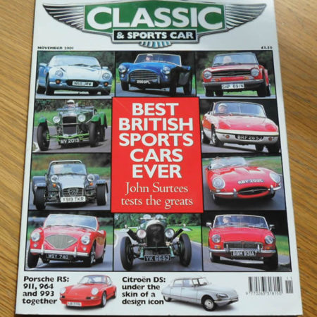 Classic and Sports Car Magazine November 2001