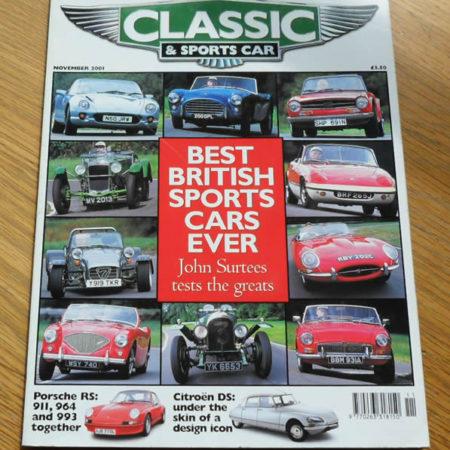 Classic and Sports Car Magazine November 2001