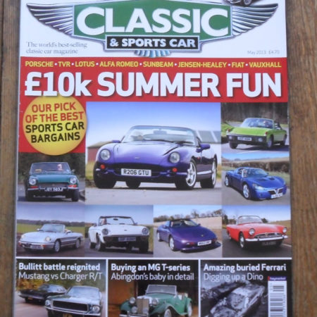 Classic and Sports Car Magazine May 2013