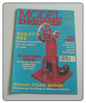Model Engineer Vol 187 #4155 September 21st 2001