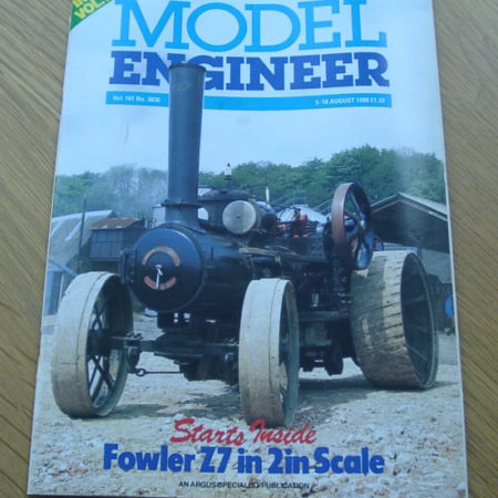 Model Engineer Vol 161 #3830 5th August 1988