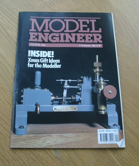 Model Engineer Vol 163 #3860 3rd November 1989