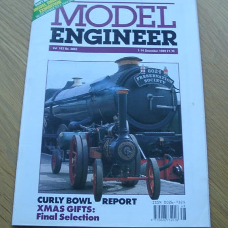 Model Engineer Vol 163 #3862 1st December 1989