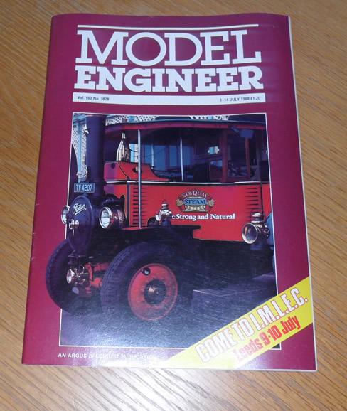 Model Engineer Vol 160 #3828 1st July 1988