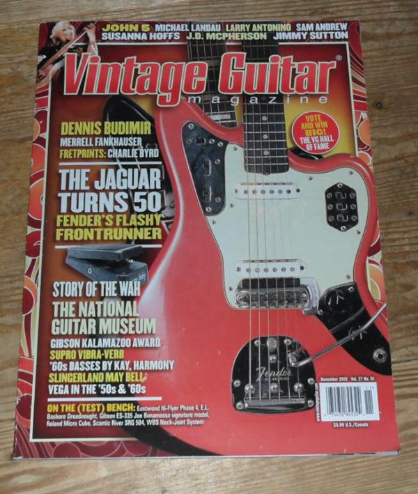 Vintage Guitar November 2012