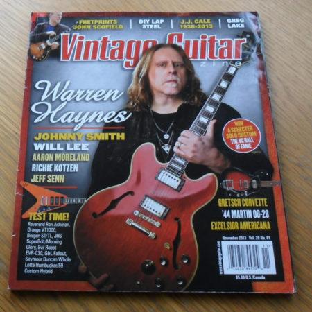 Vintage Guitar November 2013